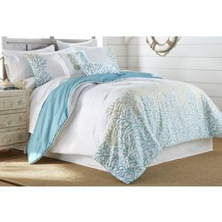 Coastal Home Coral Ombre Comforter Set