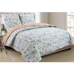 Panama Jack Stamped To Sea Quilt Set