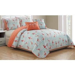 Panama Jack Social Club Flamingo Quilt Set