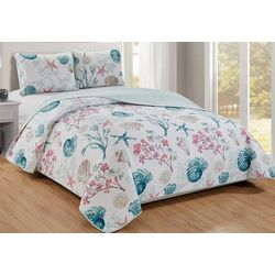 Panama Jack Sea Shore Sea Shells Quilt Set
