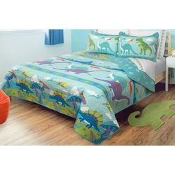 Colour Your Home Dino Park Quilt Set