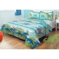 Colour Your Home Dino Park Quilt Set