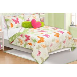 Colour Your Home Papillons Quilt Set