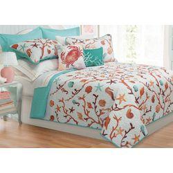 Colour Your Home Azure Quilt Set
