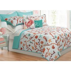 Colour Your Home Azure Quilt Set