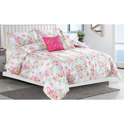 Tropic Winds Flamingle Comforter Set