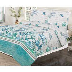 Tropic Winds Salt Sand Sea Quilt Set