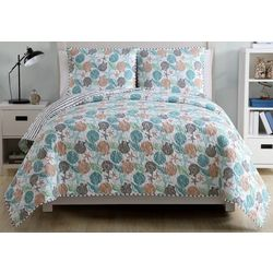 Seaside Villa Sea Shells Quilt Set