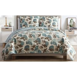 VCNY Home Shell Treasure Quilt Set