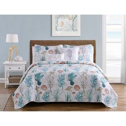 VCNY Home Coral Reef Quilt Set