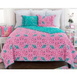 Simply Southern Sea Shell & Coral Quilt Set