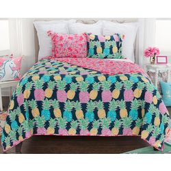 Simply Southern Pineapple Hibiscus Quilt Set