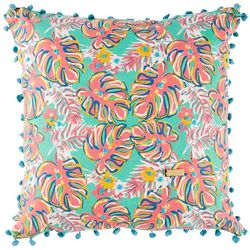 Simply Southern Colorful Tropical Leaf Decorative Pillow