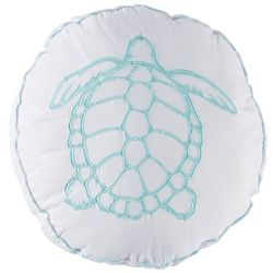 Retreat Home Collection Turtle Round Decorative Pillow