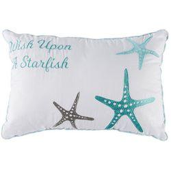Retreat Home Collection Wish Starfish Decorative Pillow