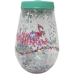 Brighten the Season Mix & Flamingle Stemless Wine Glass