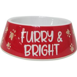 Brighten The Season Furry & Bright Cat Dish