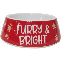 Brighten The Season Furry & Bright Dog Dish