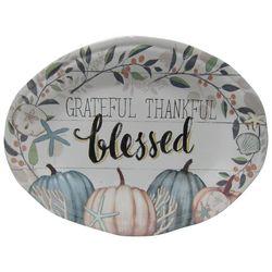 Brighten the Season Grateful Thankful Blessed Platter