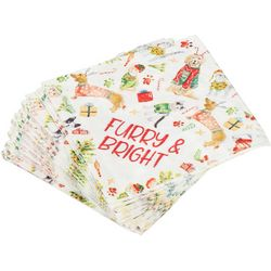 Brighten the Season 40-pk. Furry & Bright Cocktail Napkins