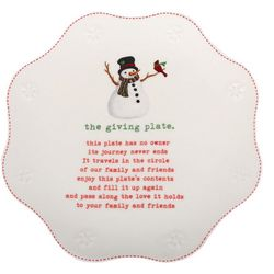 Dennis East Snowman The Giving Plate