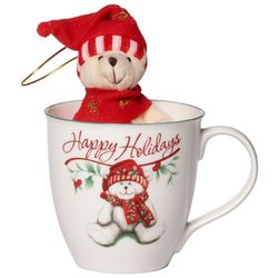 Pfaltzgraff Winterberry Mug with Stuffed Bear