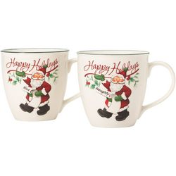 Pfaltzgraff Winterberry 2-pc. Naughty/Nice Mug Set