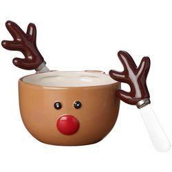 Pfaltzgraff 3-pc. Reindeer Dip Bowl & Spreader Set