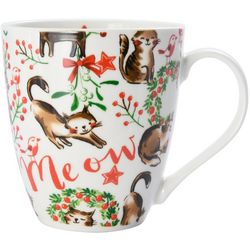 Pfaltzgraff Christmas Cat Coffee Mug