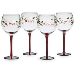 Pfaltzgraff 4-pc. Winterberry Wine Glass Set