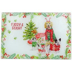 Brighten the Season Furry & Bright Cutting Board