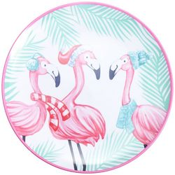 Brighten the Season Mix & Flamingle Dinner Plate