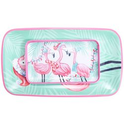 Brighten the Season Mix & Flamingle 2-pc. Platter Set