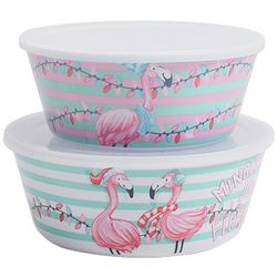 Brighten the Season Mix & Flamingle 2-pc. Nested Bowl Set