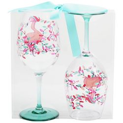 Brighten the Season Mix & Flamingle 2-pc. Wine Goblet Set