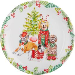 Brighten the Season Furry & Bright Dog Salad Plate
