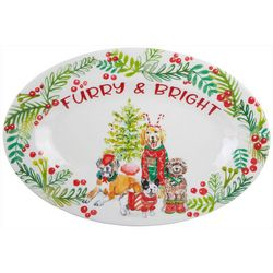 Brighten the Season Furry & Bright Dog Platter
