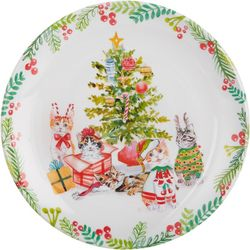 Brighten the Season Furry & Bright Cat Salad Plate