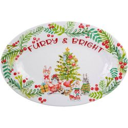 Brighten the Season Furry & Bright Cat Platter