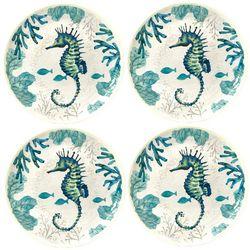 Brighten the Season 4-pc. Seahorse Appetizer Plate Set