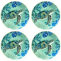 Brighten the Season 4-pc. Sea Turtle Appetizer Plate Set