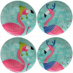 Brighten the Season 4-pc. Fa La La Flamingo Appetizer Plate