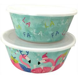 Brighten the Season 2-pc. Fa La La Flamingo Nested Bowl Set