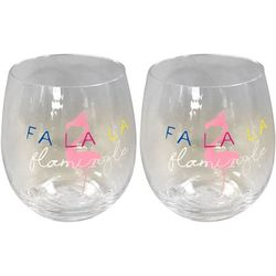 Brighten the Season 2-pc. Fa La La Flamingo Stemless Goblet