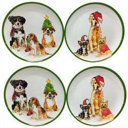 Brighten the Season 4-pc Happy Pawlidays Dog Appetizer Plate
