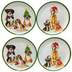 Brighten the Season 4-pc Happy Pawlidays Dog Appetizer Plate
