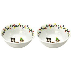 Brighten the Season 2-pc. Happy Pawlidays Dog Appetizer Bowl