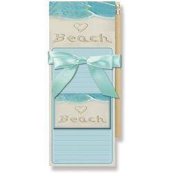 Cape Shore Beach Sand Magnetic Note Pad Gift Set