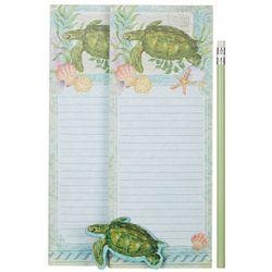 Cape Shore Sea Turtle Magnetic Memo Pad Gift Set