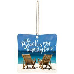 P. Graham Dunn The Beach Is My Happy Place Car Charm